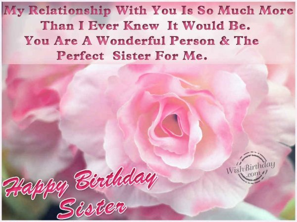 Wishing You A Very Happy Birthday Sister