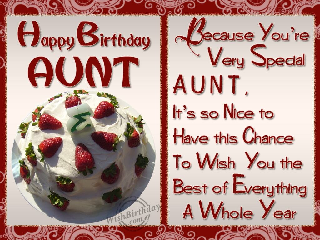 Happy Birthday Aunt Ecards Happy Birthday Dear Aunt
