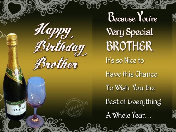 Special Birthday Wishes To Special Brother