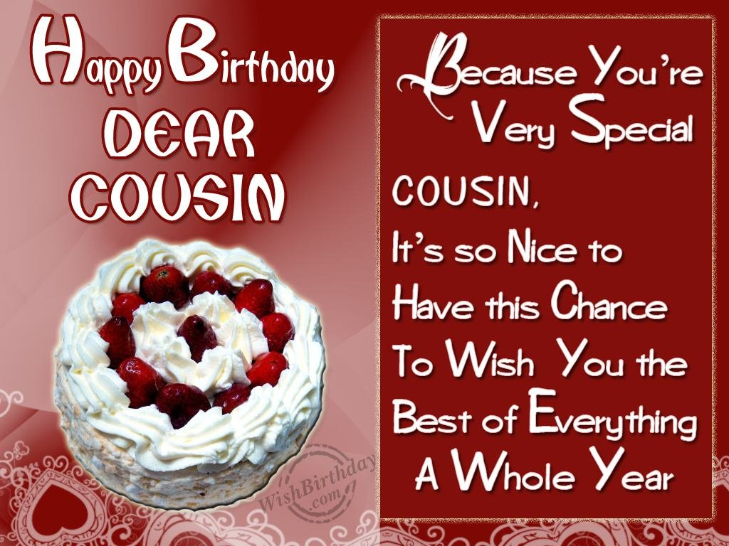 Special Birthday Wishes To Special Cousin Wishbirthday Com Happy Birthday Wishes Cousin