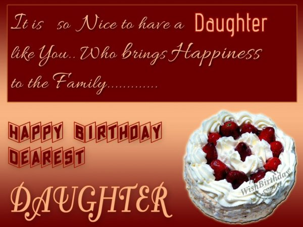 Wishing You Happy Birthday My Gorgeous Daughter