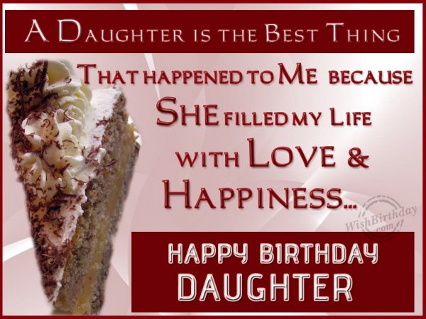 Have A Fantastic Birthday To My Loving Daughter