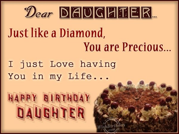 Special Birthday Wishes For My Precious Daughter