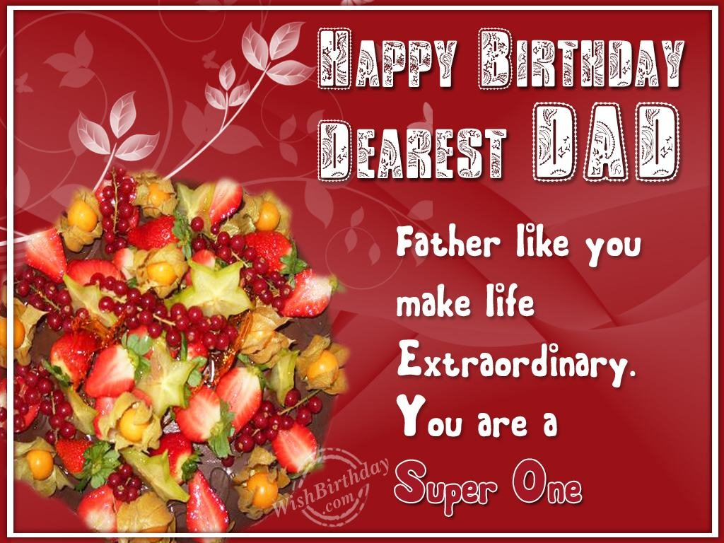 Birthday Greeting Cards For My Father Cute Birthday Gift – Happy Birthday Greetings to Father
