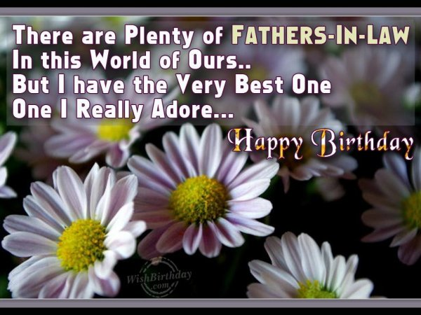 Wishing Happy Birthday My Best Father-In-Law