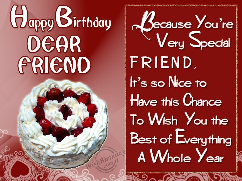Birthday Wishes For Friend Birthday Images Pictures – Birthday Greeting to Friend