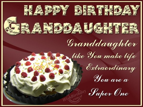 Happy Returns Of The Day Dear Granddaughter