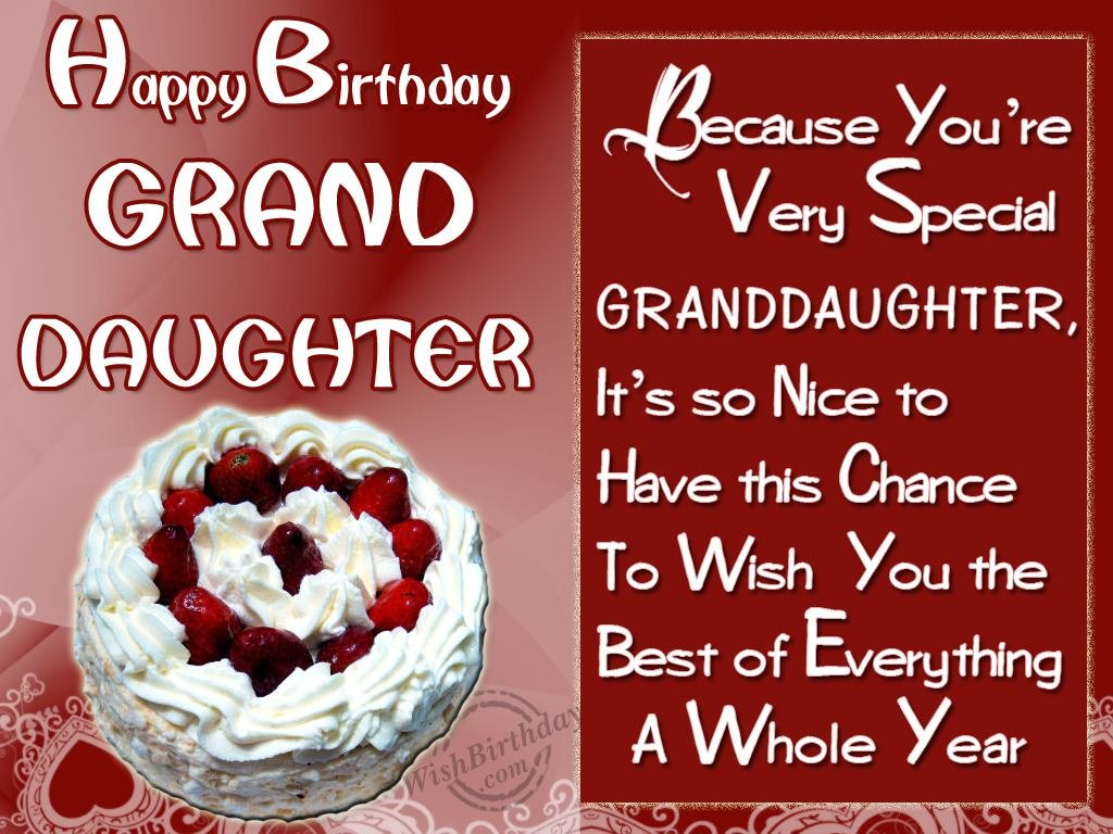 Wishing You Happy Birthday A Gorgeous Granddaughter