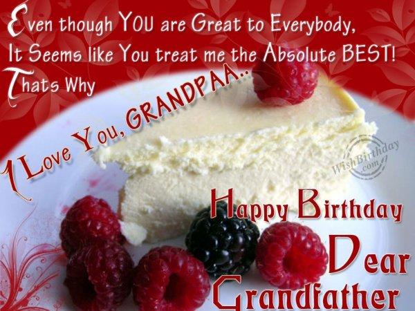 Happy Birthday Dear Grandpaa