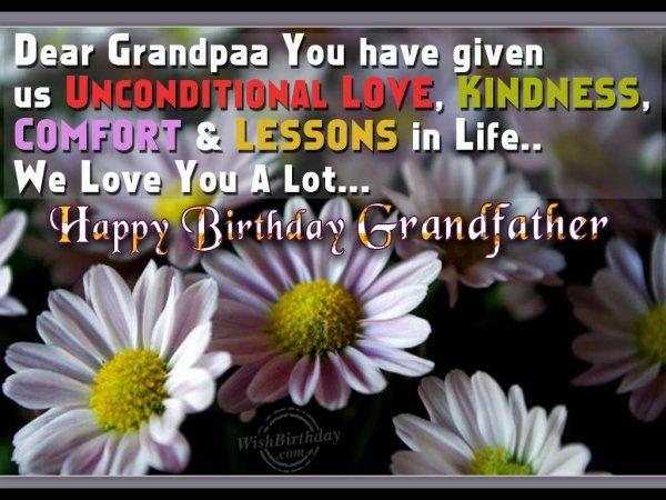 Very Happy Birthday Loving Grandfather