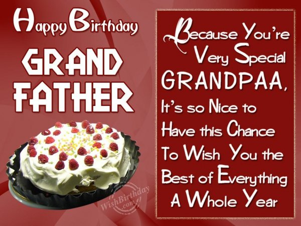 Wishing Special Birthday Wishes For Special Grandfather
