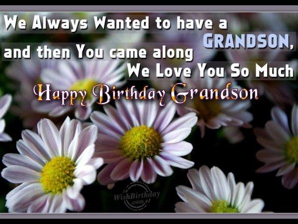 Wishing You Happy Birthday My Loving Grandson