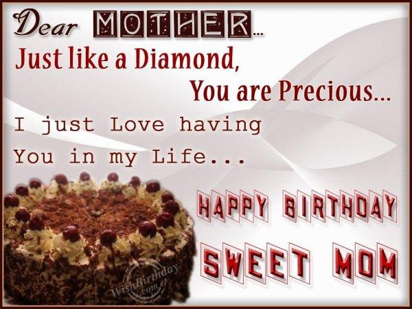Wishing You Happy Birthday My Precious Mom