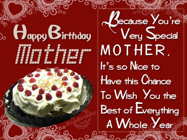 Special Birthday Wishes To Special Mother - WishBirthday.com