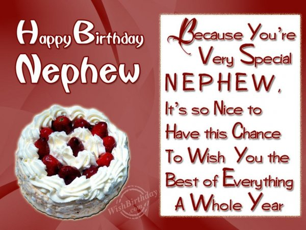 Wishing Special Birthday To My Special Nephew