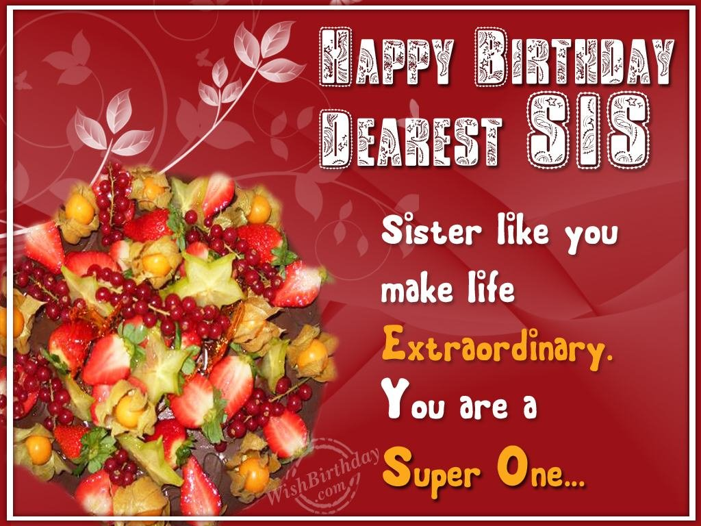 Birthday Wishes For Sister Birthday Images Pictures – Happy Birthday to My Sister Cards