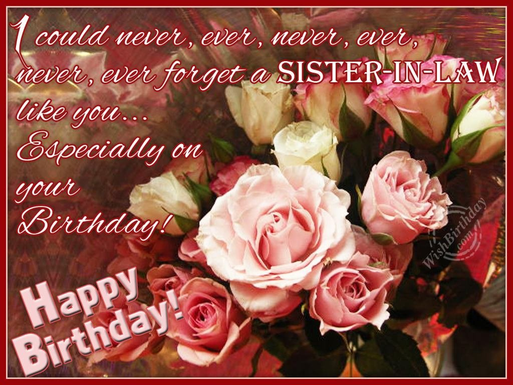 sister in law birthday wishes