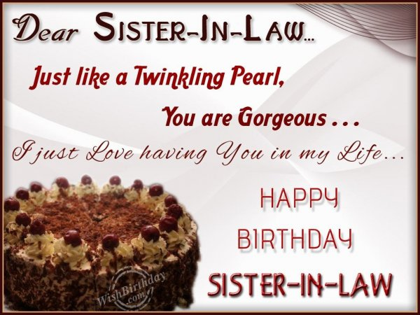 Wishing You Happy Birthday My Sister-In-Law
