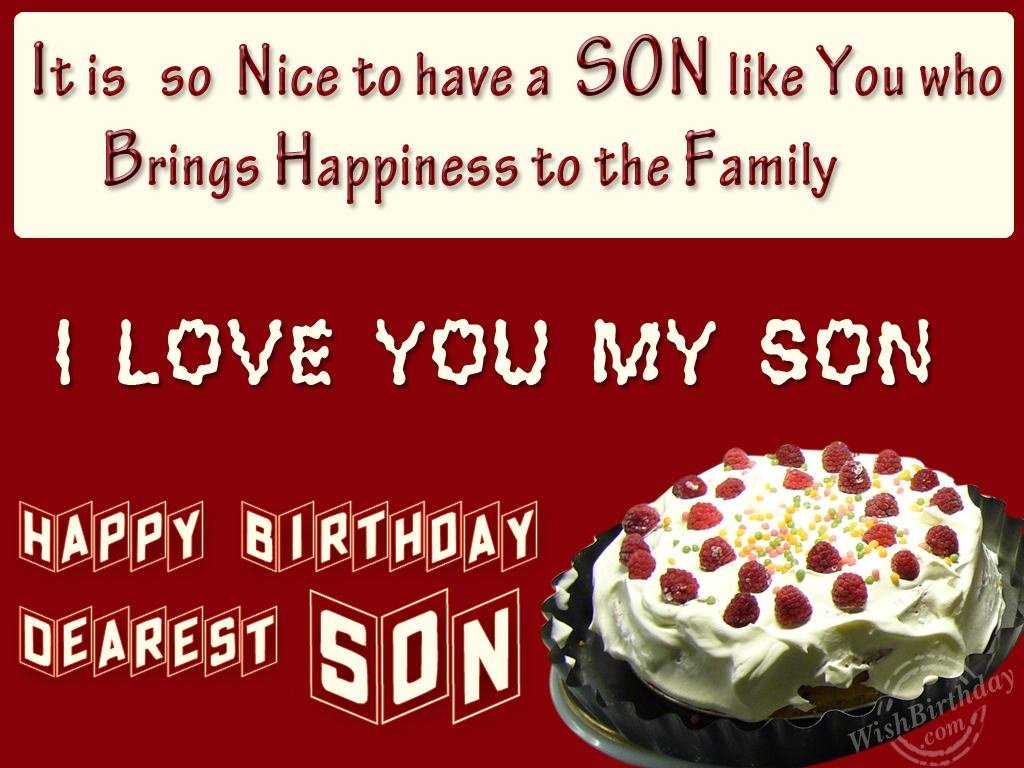 Birthday Wishes For Son Birthday Images Pictures – Birthday Greeting for Son
