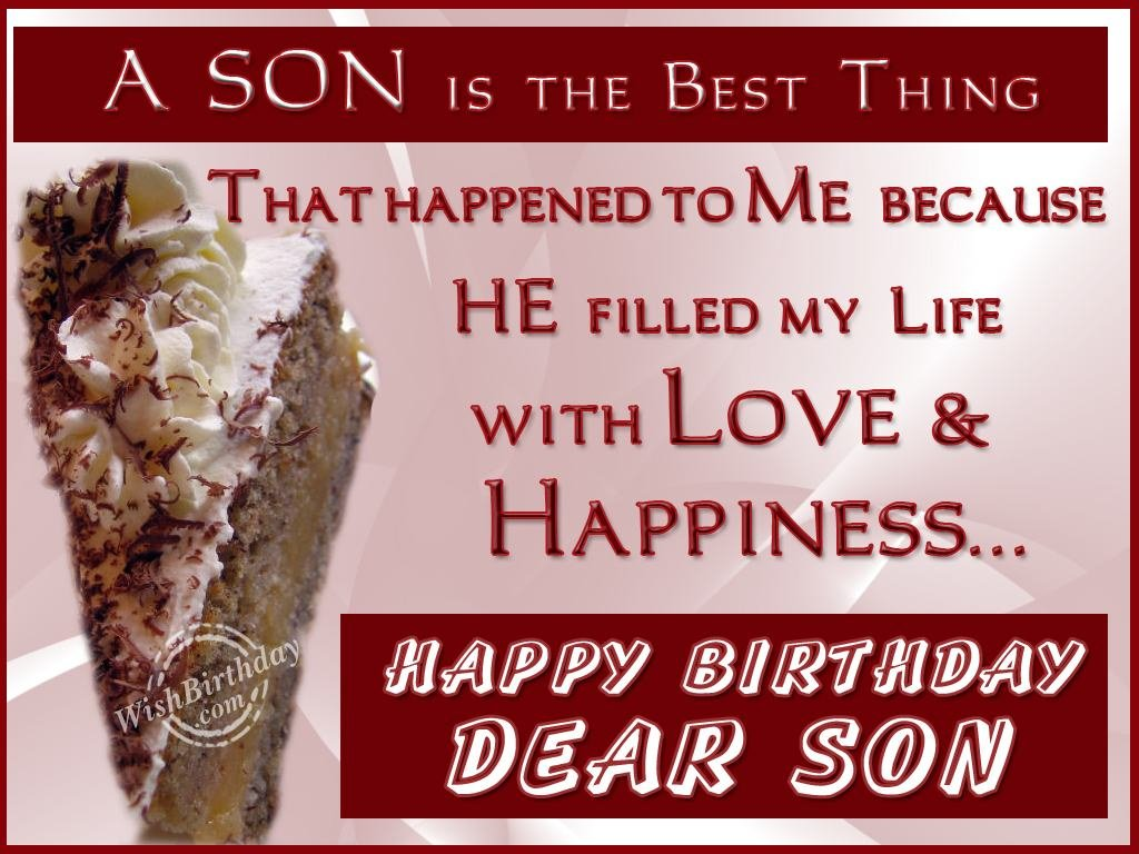 Birthday Wishes For Son Birthday Images Pictures – Birthday Greetings for Sons