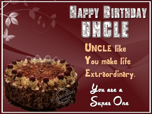 Have A Fantastic Birthday Dear Uncle