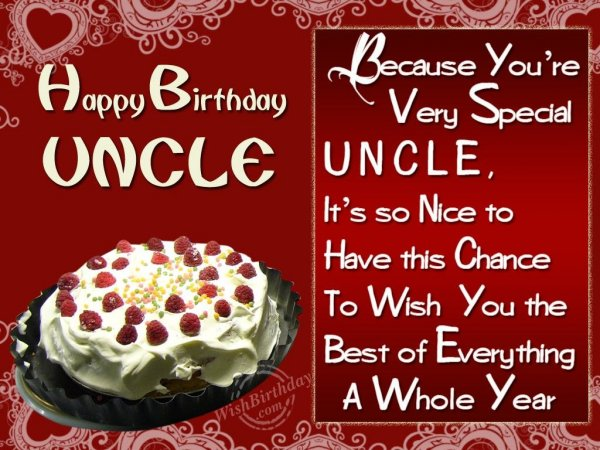 Wishing Special Birthday To A Special Uncle