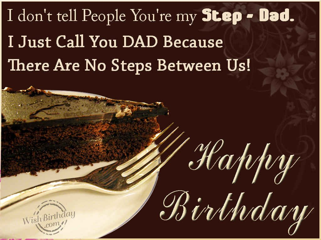 happy birthday step dad quotes