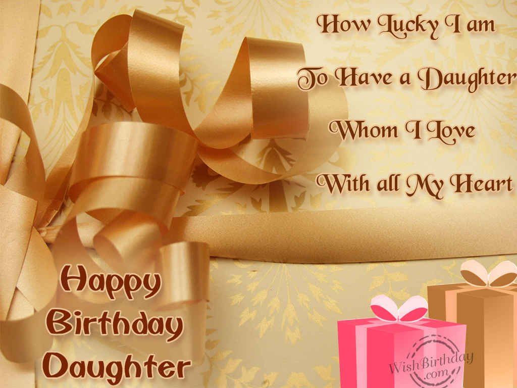 Birthday Wishes For Daughter Birthday Images Pictures – Happy Birthday Card for My Daughter