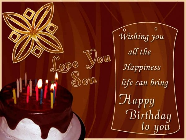 Wishing You A Very Happy Birthday Son - WishBirthday.com