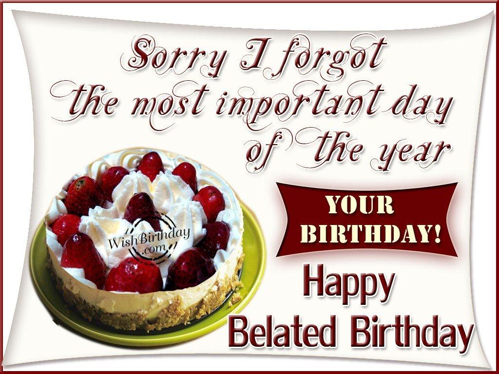 Forgetting birthdays