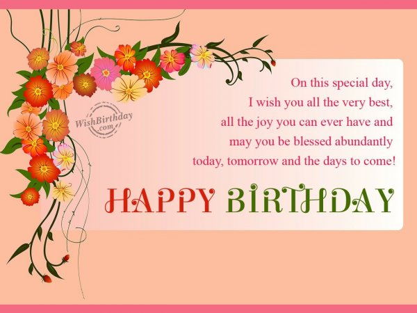 May you be blessed abundantly… - WishBirthday.com
