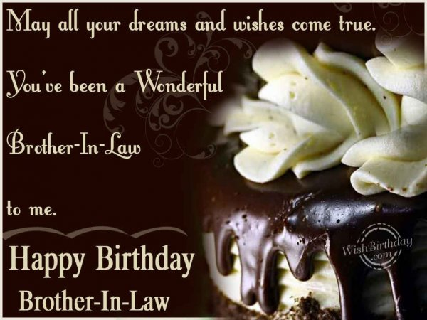 Wishing You A Very Happy Birthday Brother-In-Law