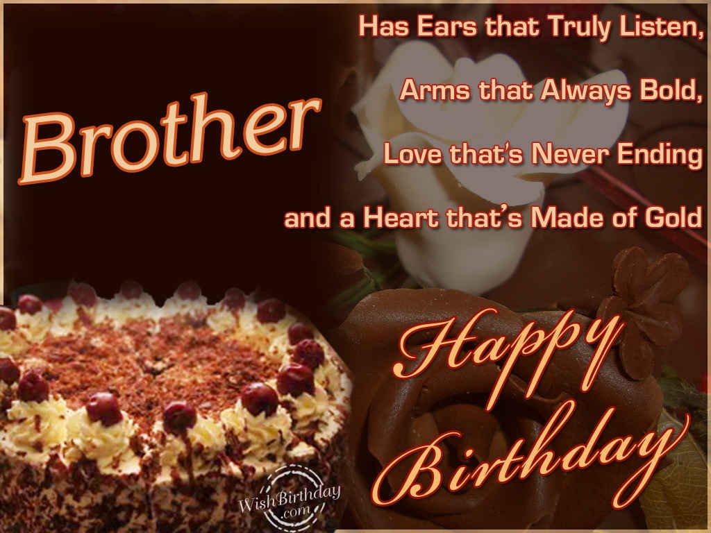 Birthday Cake Images N Quotes ~ Happy birthday brother messages quotes and images ~ inspiring quotes