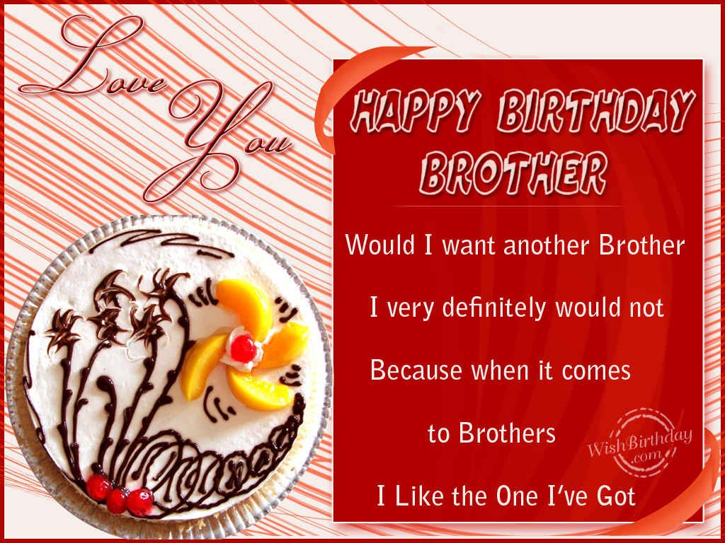 Birthday Wishes For Brother Cards Happy Birthday Brother
