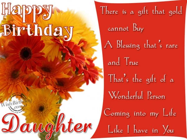 Happy Birthday Daughter - WishBirthday.com