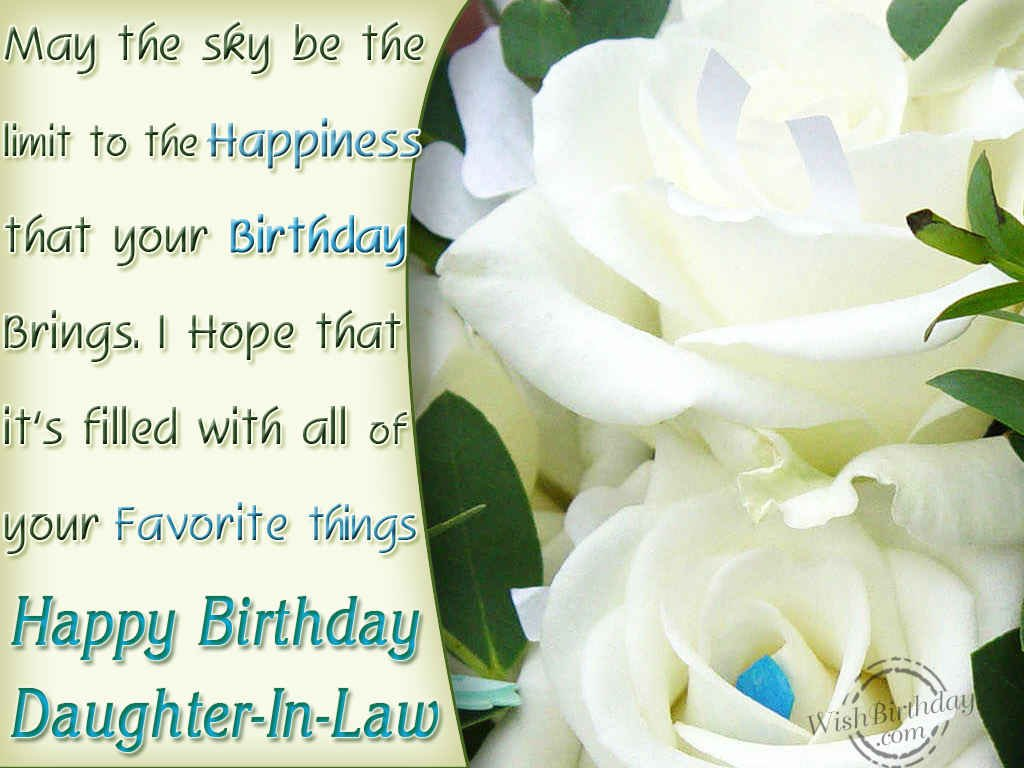 Happy Birthday DaughterInLaw WishBirthday – Happy Birthday Daughter in Law Cards