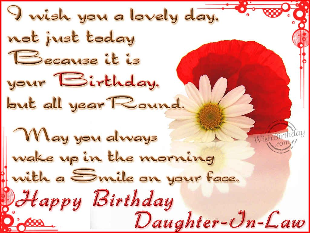wishing you a very happy birthday daughter in law