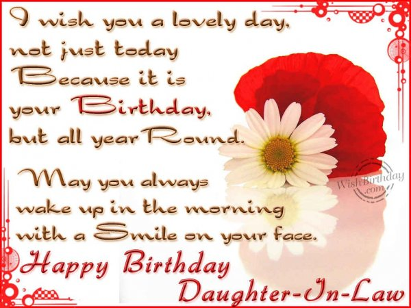 Wishing You A Very Happy Birthday Daughter-In-Law - WishBirthday.com