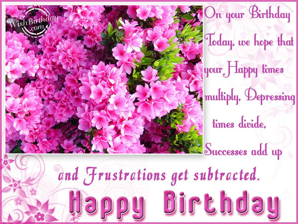 Birthday Wishes With Flowers Birthday Images Pictures