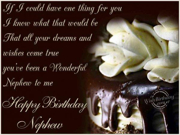Wishing You A Very Happy Birthday Nephew