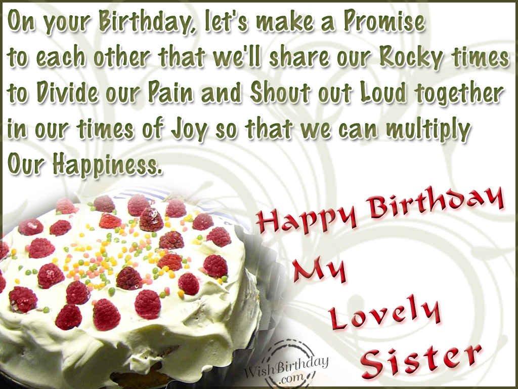 Happy Birthday My Lovely Sister Wishbirthday Com