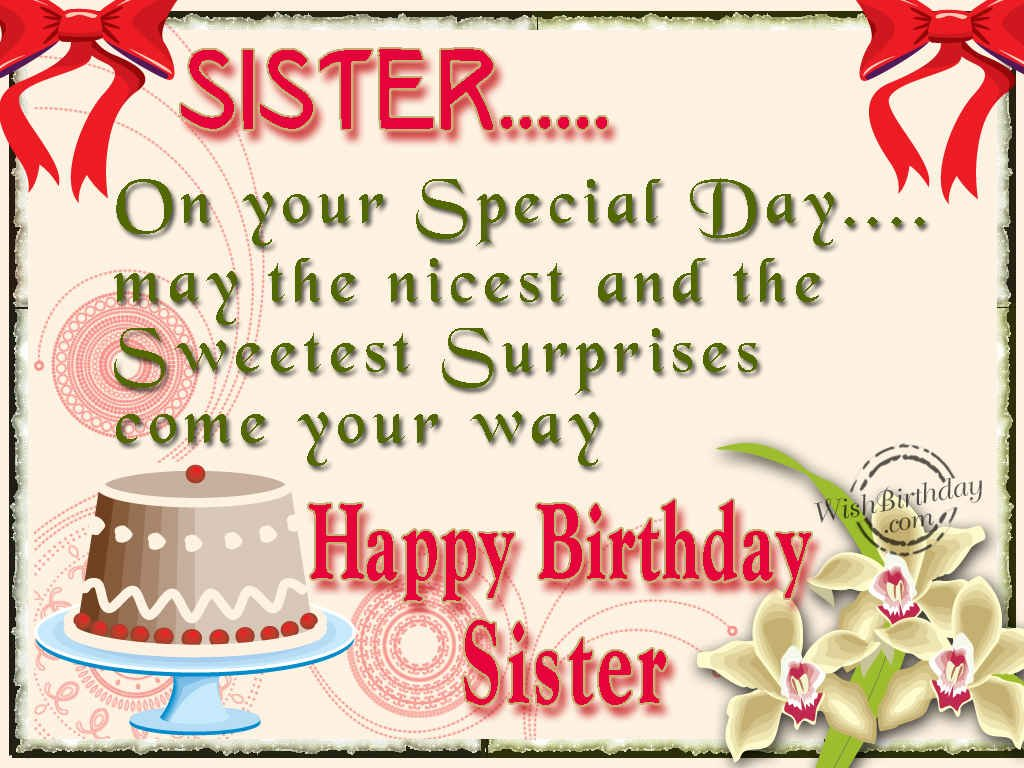 Birthday Wishes For Sister Birthday Images Pictures