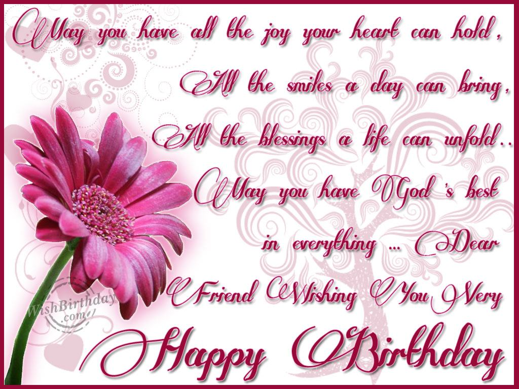 Dear Friend Wishing You A Very Happy Birthday