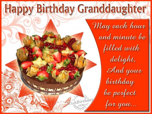 Wishing Happy Birthday To A Lovely Granddaughter
