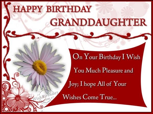 Happy Birthday Granddaughter