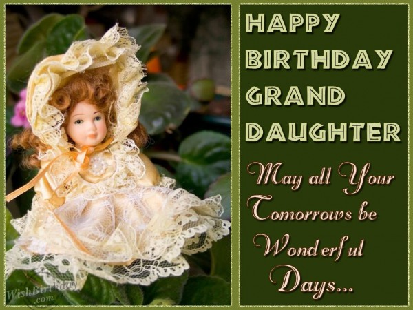 Birthday Wishes for Granddaughter From Grandparents