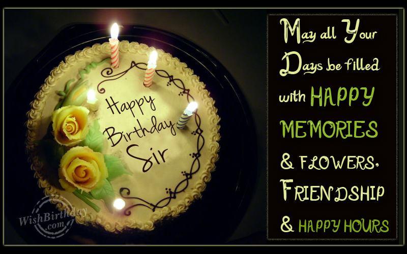Cake Images For Sir : Happy Birthday Sir - WishBirthday.com
