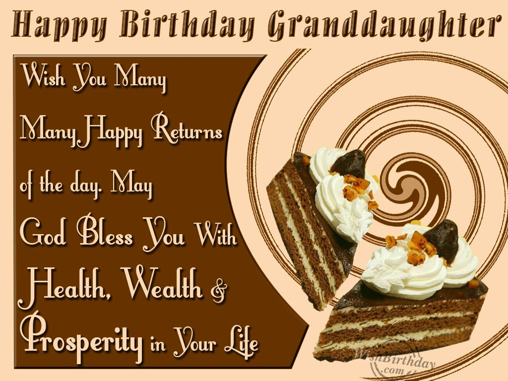 Wish You Many Many Happy Returns Of The Day Granddaughter