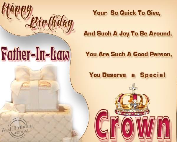 Father-in-law You Deserve A Special Crown