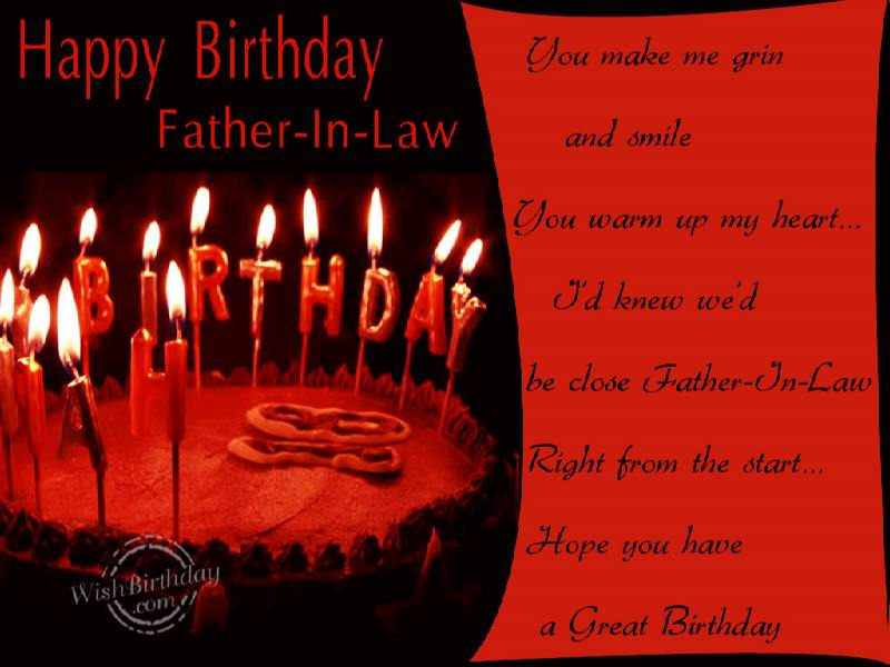 Special birthday wish father in law quotes m4hsunfo